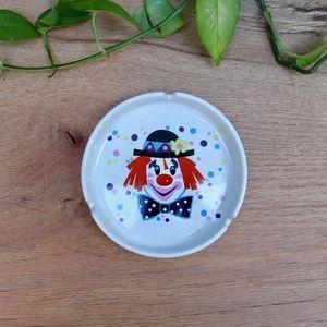 Vintage Ceramic Clown Ashtray